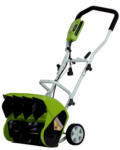 GreenWorks 26022 10 Amp 16″ Corded Snow Thrower-Snow Shovels