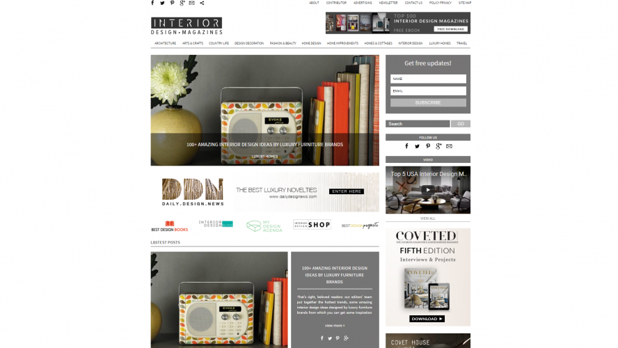 Interior Design Magazines – Start Sprucing up Your Home- Interior Design Blogs