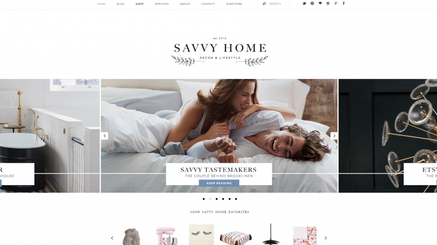 Savvy Home – Your Online Décor Destination- Interior Design Blogs
