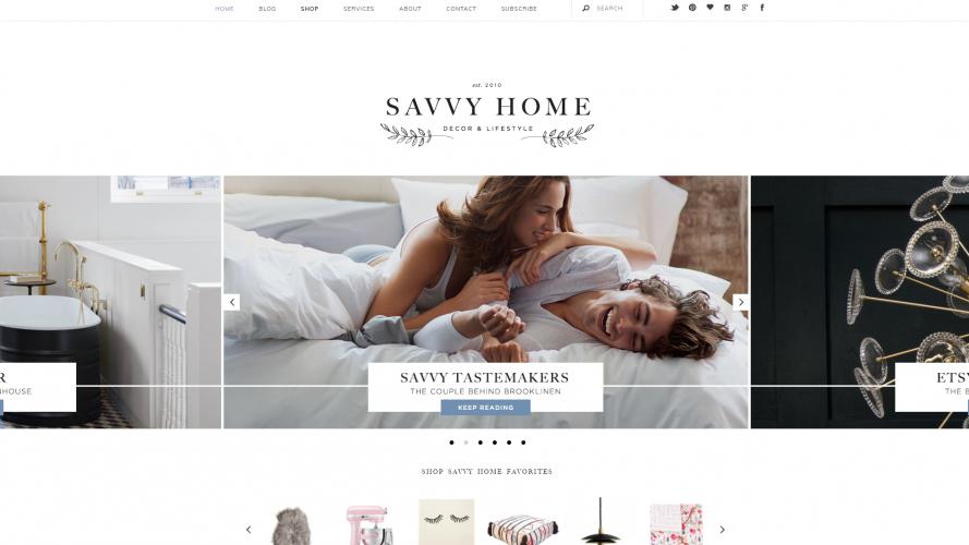 Savvy Home – Your Online Décor Destination- Interior Design Blogs