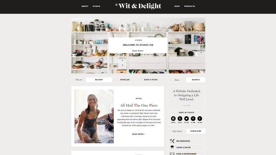 Wit + Delight – A Channel with Multi-marketing Ideas- Interior Design Blogs