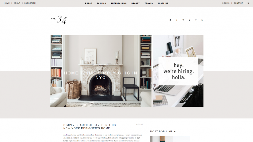 Apartment 34 – Add Some Sophisticated Style to Your Home- Interior Design Blogs