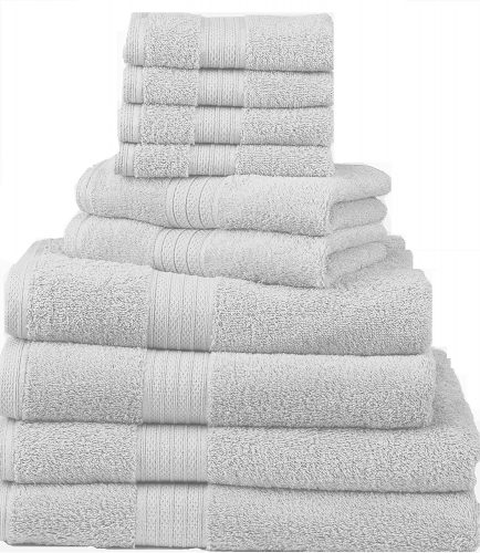 The 10-Piece Deluxe Towel Set by Divatex- bath towels