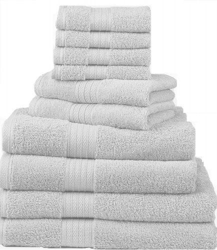 The 10-Piece Deluxe Towel Set by Divatex- bath towels