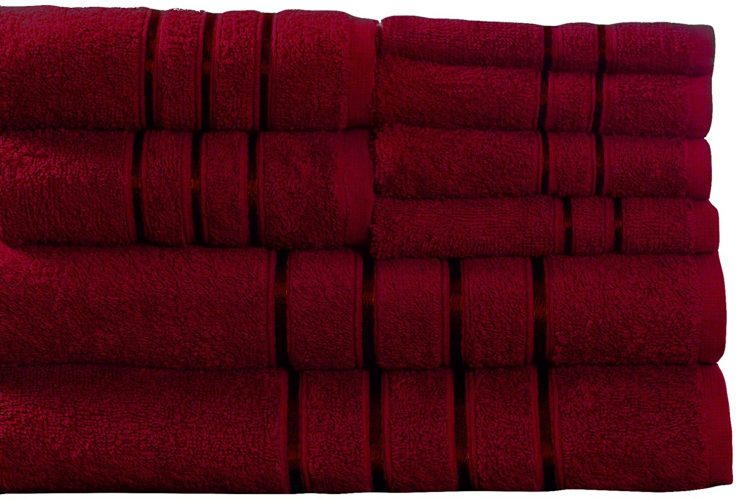 The 8-Piece Lavish Home Plush Bath Towel Set
