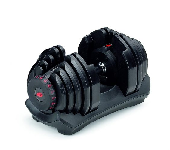 The BOWFLEX SelectTech 1090- adjustable dumbbells
