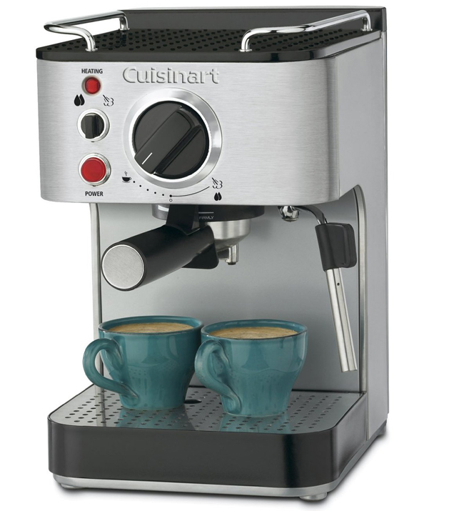 The Cuisinart EM-100 1000-Watt 15-Bar Espresso Maker