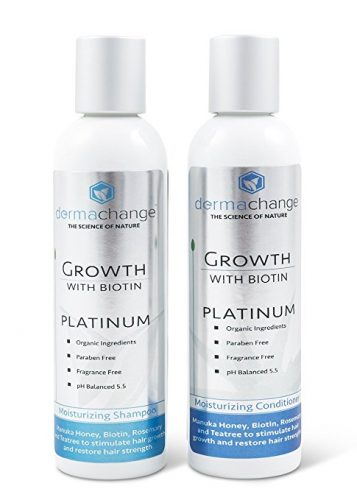 The DermaChange Organic Biotin Shampoo- hair growth shampoo