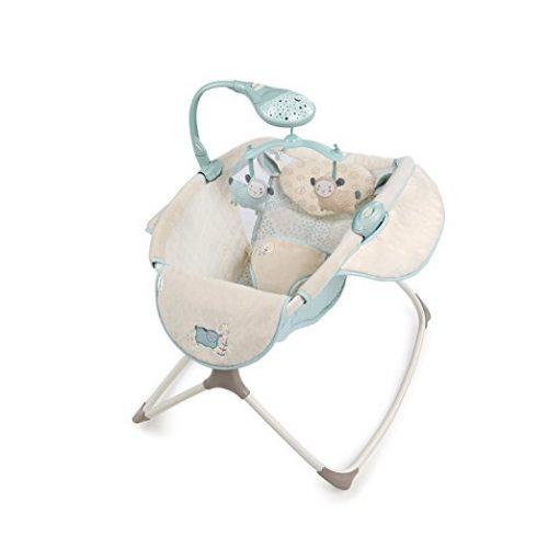 The Lullaby Lamb Ingenuity Moonlight Rocker-10 Best Baby Swings