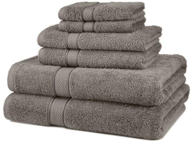 The Superior Egyptian Cotton 6-piece Towel Set- bath towels