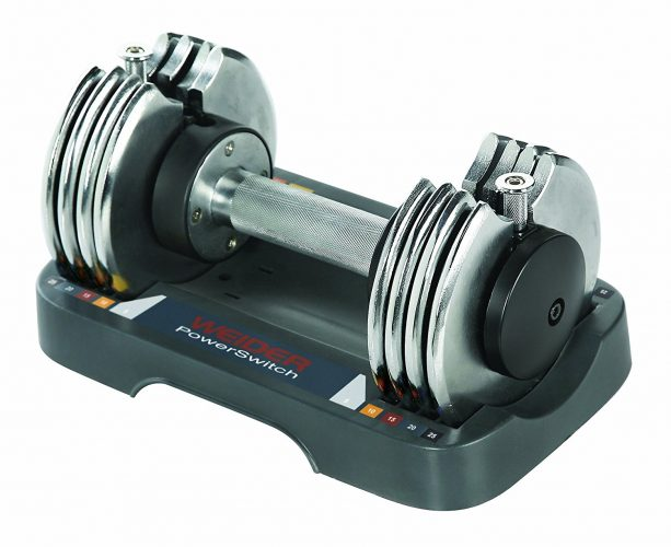 The Weider Speed Weight Adjustable Dumbbell