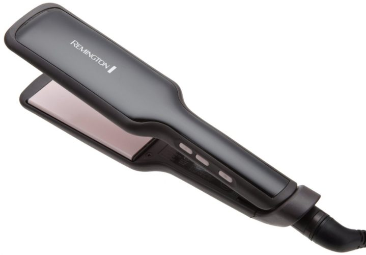 Remington S9520 Salon Collection Ceramic Hair Straighteners with Pearl Infused Wide Plates, 2-Inch, Black