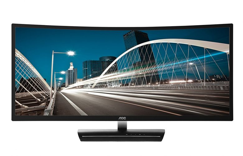 "AOC C3583FQ 35"" VA Curved LED Monitor 2560 x 1080 Res, 21:9,160hz, 300 cd/m2, 4ms,VGA/DVI/(2) HDMI/(2) DP, Spk - Touch Screen Monitor"
