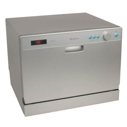 EdgeStar DWP61ES 6 Place Setting Countertop Portable Dishwasher – Silver - Countertop Dishwasher