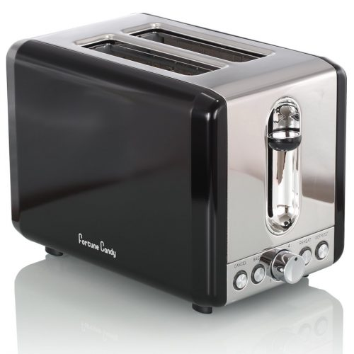 Fortune Candy Extra-Wide Slot 2-Slice Toaster Brushed Stainless Steel (Metallic Silver) - Slice Toaster