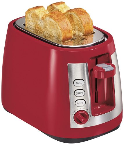 Hamilton Beach Ensemble Extra-Wide Slot 2-Slice Toaster, Red (22812) - Slice Toaster