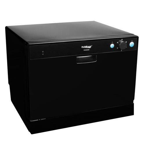 Koldfront 6 Place Setting Portable Countertop Dishwasher – Black - Countertop Dishwasher