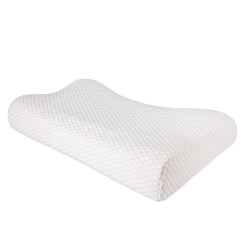 NURSAL Contour Memory Foam Pillow, Hypoallergenic Neck Optimum Support for Pain Relief, Orthopedic Pillow with Washable Zippered Soft Cover -
