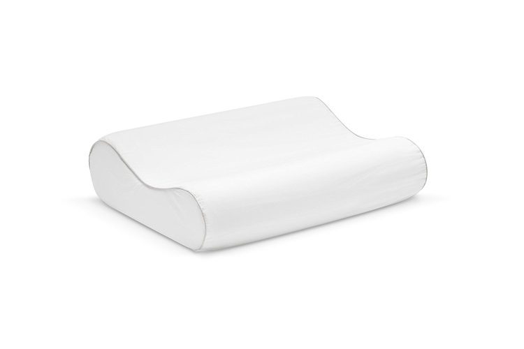 Sleep Innovations Contour Memory Foam Pillow with 100% Cotton Cover, Made in the USA with a 5-year Warranty - Standard Size -