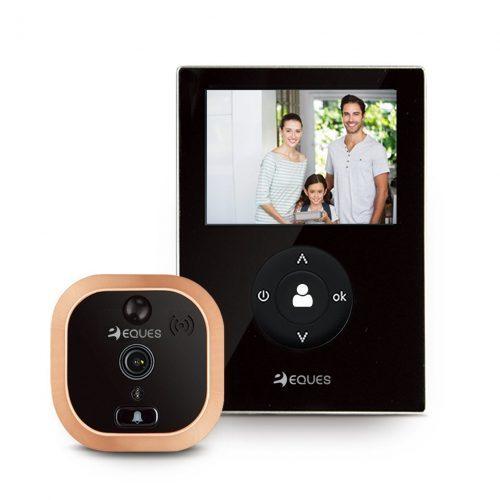 VEIU Mini by Eques - Smart Video Doorbell &amp - Rechargeable and Easy Installation- Wireless Doorbells