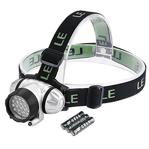 LE Headlamp LED 4 Modes Headlight, Battery Powered Helmet Light For Camping, Running, Hiking And Reading, 3AAA Batteries Included