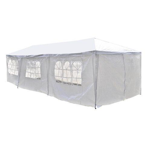 ALEKO 30 x 10 Feet Gazebo Canopy for Outdoor Picnic Party Tent, White Gazebo - Party Tents