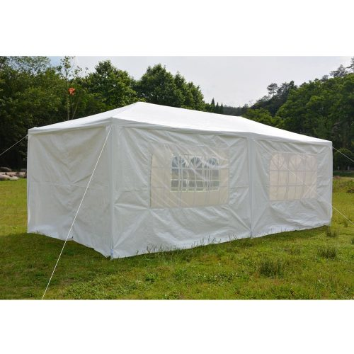 FCH 10'x20'Outdoor Patio Party Canopy Tent Wedding Outdoor Tent Heavy duty Gazebo Pavilion for Waterproof 4 Window SideWalls - Party Tents