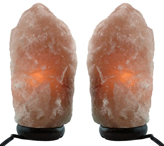 Himalayan Natural Salt Lamp- TWO Pack- Multiple Sizes (6-8 inch) - Best Himalayan Salt Lamps