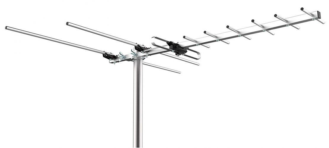 Mediasonic Homeworx HDTV Outdoor Antenna – 80 Miles Range Support UHF/VHF (HW-27UV) - long range outdoor HDTV antenna