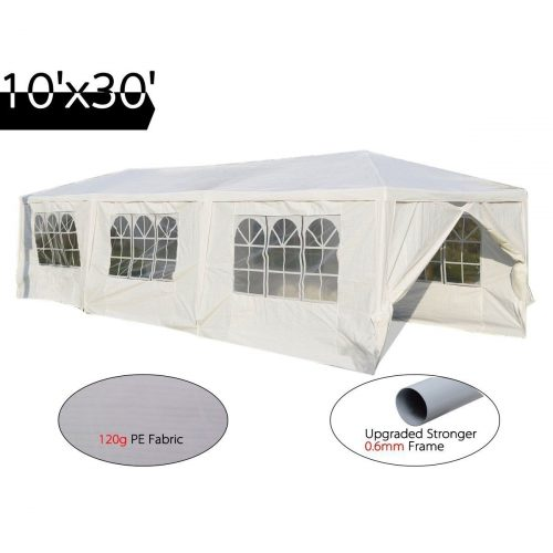 Peaktop 10'x30' Heavy Duty Outdoor Party Wedding Tent Canopy Gazebo Storage Shelter Pavilion. - Party Tents