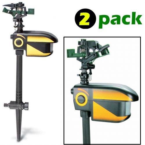 ScareCrow Motions-Activated Animals Deterrent 2 packs Sprinklers Spray Electronics Pest Repellent - Motion Sensor Sprinkler