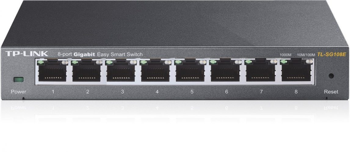 TP-Link 8-Port Gigabit Ethernet/Easy Smart Switch/ Managed Plus/ Plug and Play/ Desktop/ Sturdy Metal/ Limited (TL-SG108E) - Best Ethernet switches
