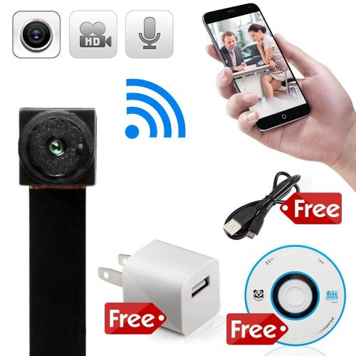 minicute Mini Hidden spy camera HD P2P Wireless WiFi IP Digital Video Recorder for IOS Android Phone APP Motion Detecting with Charger and Disc and Updated Instruction Included - Portable Mini IP Cameras