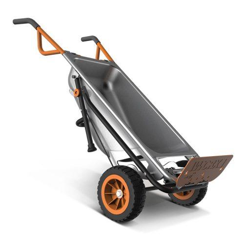 WORX Aerocart Multifunction 2-Wheeled Yard Cart, Dolly, and Wheelbarrow with Flat Free Tires – WG050-Garden Carts