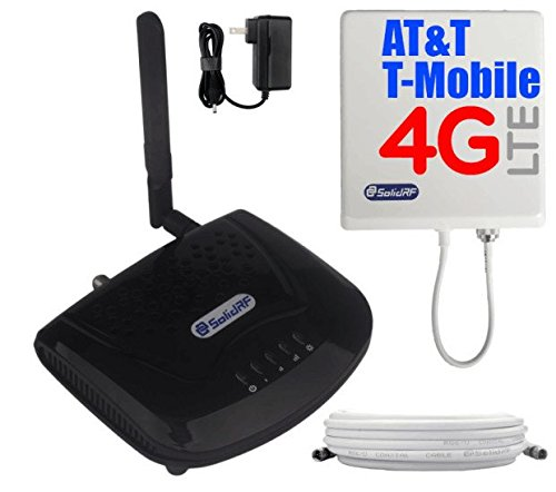 SolidRF SOHO Tri-Band AT&T, T-Mobile 4G/LTE Cell Phone Booster For All Carriers 2G/3G and AT&T, T-Mobile 4G LTE, 700(Band12)/850/1900 MHz - Cell Phone Signal Boosters