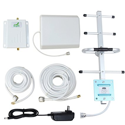 Verizon 4G Signal Booster LTE Cell Phone Repeater Band 13 Verizon 700MHz FDD with Panel Antenna Kit (White Cable) - Cell Phone Signal Boosters