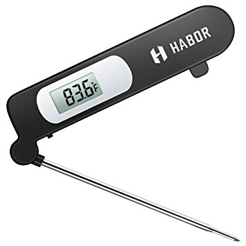 Habor Instant Read Meat Thermometer, Super-Fast Accurate Cooking Thermometer Electronic Kitchen Thermometer with Digital LCD - meat thermometer