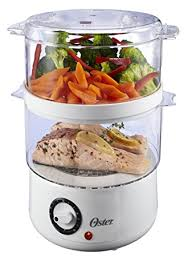 Oster CKSTSTMD5-W 5-Quart Food Steamer, White - Electric Food Steamers