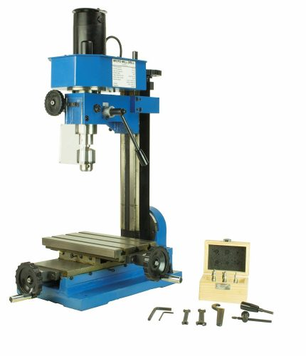 Erie Tools Variable Speed Mini Milling Machine Benchtop Drilling and Machining Gear Driven with Adjustable Depth Stop - Milling machines