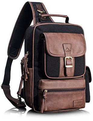 Leaper Cross Body Messenger Bag Shoulder Backpack Travel Rucksack Sling Bag - Single Strap Backpack