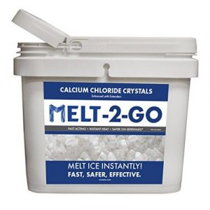 Snow Joe AZ-25-CC-BKT Melt-2-Go Premium Calcium Chloride Crystal Ice Melter, 25-lb Flip-Top Bucket W/Scooper - Ice Melters