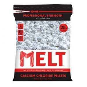 Snow Joe MELT25CCP 25-LB Professional Strength Calcium Chloride Pellets Ice Melter Resealable Bag - Ice Melters