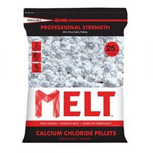Snow Joe MELT25CCP 25-LB Professional Strength Calcium Chloride Pellets Ice Melter Resealable Bag - Ice Melters
