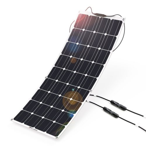 Solar Panel 12V 100W ALLPOWERS Solar Panel Charger Monocrystalline Lightweight Flexible - Monocrystalline Solar Panels