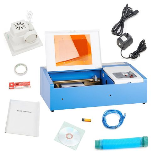 "Orion Motor Tech 12""x 8"" 40W CO2 Laser Engraving Machine Engraver Cutter with Exhaust Fan USB Port - laser engraving machine"