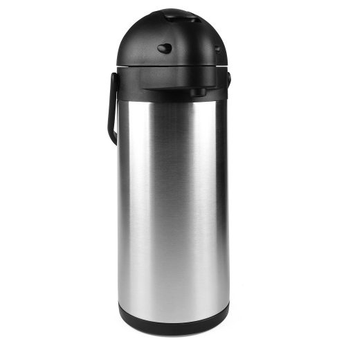 101 Oz (3L) Airpot Thermal Carafe / Lever Action / Stainless Steel Thermos / 12 Hour Heat Retention / 24 Hour Cold Retention by Cresimo - Thermal Carafes