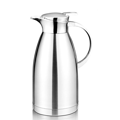 64 Oz Coffee Thermal Carafe with Lid - 18/10 Stainless Steel Coffee Thermos Carafe by Hiware - Double-Walled Vacuum Carafe Insulated - Thermal Carafes