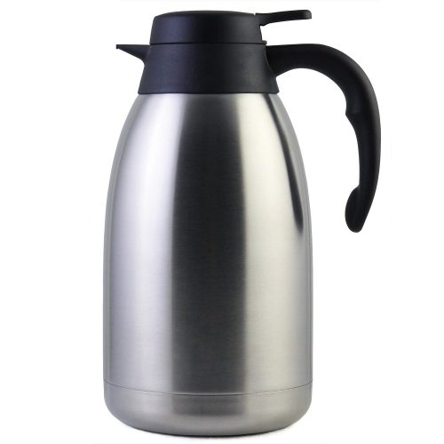 68 Oz Stainless Steel Thermal Carafe / Double-Walled Vacuum Thermos / 12 Hour Heat Retention / 2 Litre - Thermal Carafes