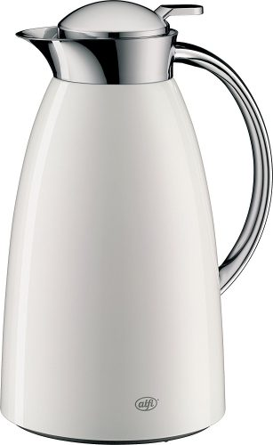 Alfi Gusto Glass Vacuum Lacquered Metal Thermal Carafe for Hot and Cold Beverages, 1.0 L, White - Thermal Carafes