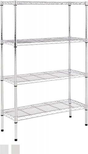 AmazonBasics 4-Shelf Shelving Unit – Chrome - collapsible storage rack
